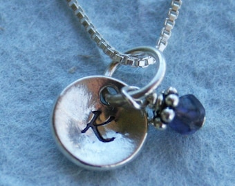Dainty Sterling Initial Necklace - Bridesmaid Gift