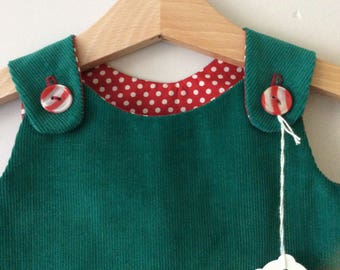 Handmade reversible pinafore dress