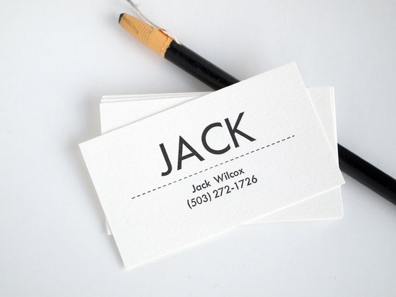 Mid century modern business cards personalized letterpress like this item colourmoves
