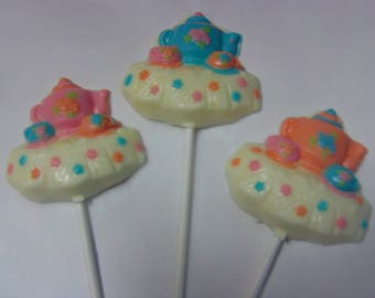 Teapot and Teacup Lollipops-Tea for Two or Three/Teaparty Theme Party/Baby Shower/Alice in Wonderland/First Birthday (12)