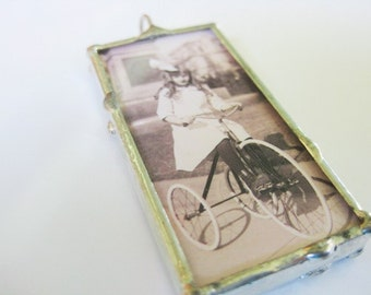 Keep Calm and Ride On Bicycle Pendant