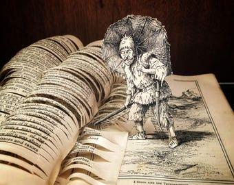 Robinson Crusoe book sculpture Daniel Defoe