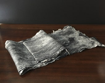 Made in Italy nuno felt scarf mulberry silk and merino wool