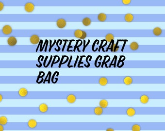 Mystery craft supplies grab bag//bezels//Beads//stickers
