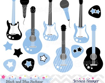 INSTANT DOWNLOAD, Baby Boy Rockstar Clipart for Commercial or Personal Use