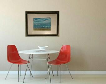 Splendid seaside in acrylic on paper