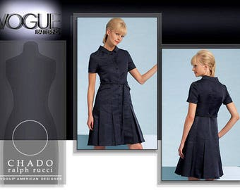 VOGUE 1107 sewing pattern.  Chado Ralph Rucci Vogue American Designer.  Size 14-16-18-20.  New.  Uncut.  Factory folded.