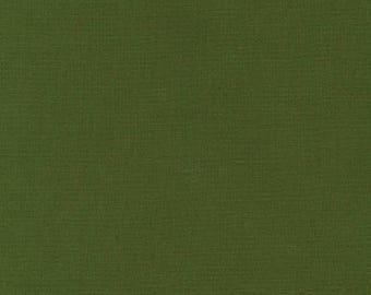 Avocado Kona Cotton, Green Fabric, Robert Kaufman Fabric, Half Yard