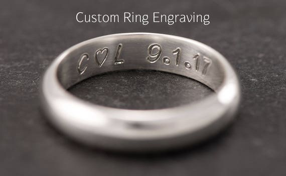 Wedding Ring Engraving- Add Custom Ring Engraving- Engraving Inside Ring, Traditional Hand Engraved Technique, Engraved To Order
