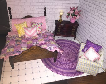 Hand crafted quilt, bedding and accessory pillows