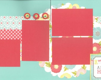 12x12 LITTLE GIRL scrapbook page kit, premade girl scrapbook, 12x12 scrapbook page kit, premade scrapbook pages, 12x12 scrapbook layout