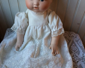 Bisque porcelain vintage doll