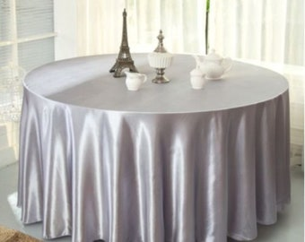 Oval Satin Wedding Tablecloth   Gold   Silver   Pink Or Cream Colour  Wedding Decoration   Wedding Party Bachelorette Party Supplies