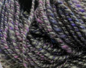 Midnight Magic - Hand Spun, Hand Dyed Alpaca Yarn
