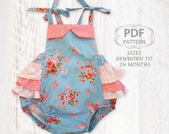 Baby sewing pattern for romper PDF Sewing pattern for baby girls toddler, Clothing pattern, Baby clothes, infant newborn pattern, ISABELLA