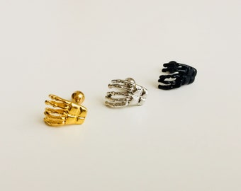 Skeleton Hand | Skeleton | Cuff | Earring | Piercing | Bones | Zombie | Cartilage | Earring | Body Jewellery