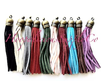 Vegan Faux Leather Tassels for Jewelrymaking, or Embellish Clothing, and Accessories. Fast Shipping from USA. Choose Color & Quantity.