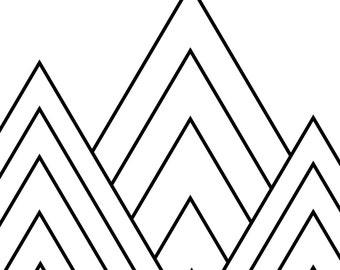 Geometric Triangle Digital Print
