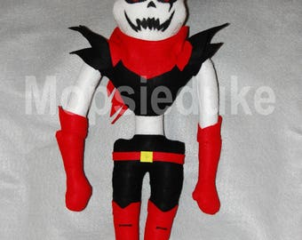fan made underfell papyrus plush