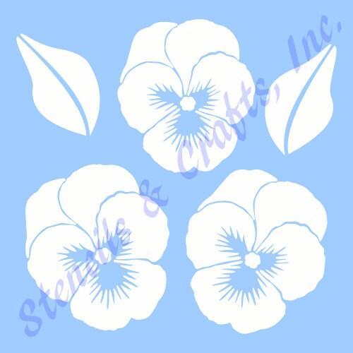 Stiefmütterchen Blume Schablone Stiefmütterchen die Blumen