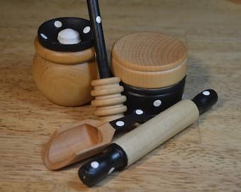 Pretend Baking Mini Set Montessori Inspired Food Kitchen Accessories