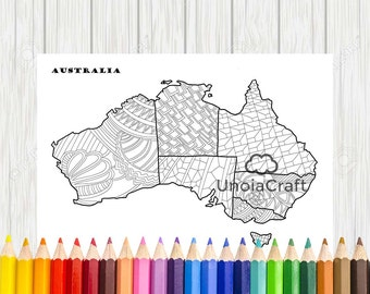 World map coloring page printable world map coloring world australia map coloring page map coloring sheets pdf color therapy australia map print gumiabroncs Choice Image