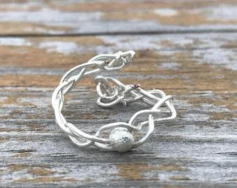 adjustable boho braided ring
