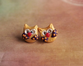 Girl Gift Earrings, Wildlife Jewelry, Kawaii Stud Earrings, Animal Lover Earrings, Wildlife Earrings, Teens Studs, Owl Posts