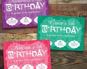 Printable, Chemistry / Science Birthday Party (GC002)
