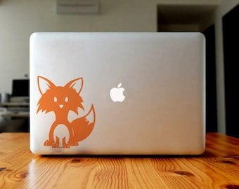 Cute fox sticker, decal, your choice of color
