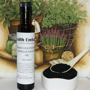 Fresh Cold Pressed Nigella Sativa/Black Cumin Oil - Health Embassy - Organic