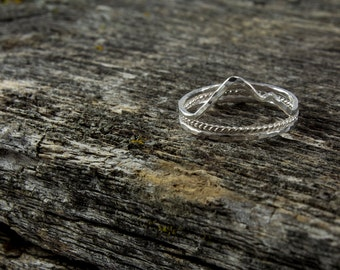 Three Sterling Silver Mountain|Water Landscape Rings
