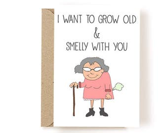 Funny Love Card - Funny Anniversary Card - Love Card - Card For Boyfriend - Card For Husband