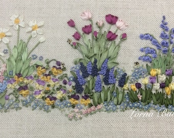 NEW! Silk Ribbon embroidery - Springtime - Full kit