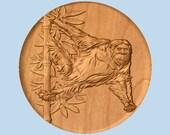 WOOD WALL ART Orangutan w...