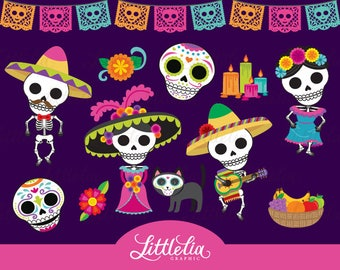 Day of the dead clipart - Dia de los Muertos clipart - 17042