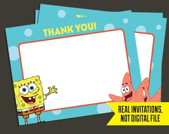 Spongebob Thank You CardsPrinted