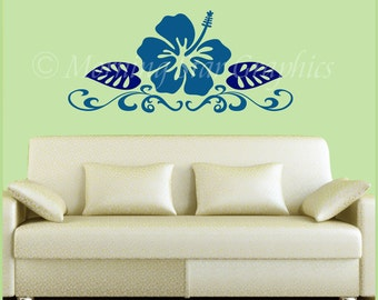 Hibiscus Flower Vinyl Decal BF-104