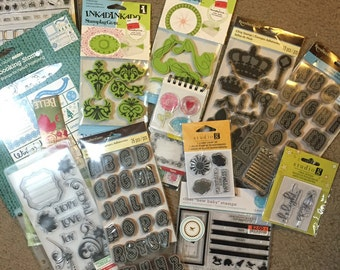 HUGE LOT acrylic stamp suprise pack- Used & Brand New- nearly 30 pounds!