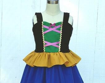 ANNA dress, vacation princess dress, Frozen Dress, Anna Princess Dress, Princess Dress, comfortable Princess Dress, Frozen Birthday Party