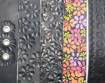 Floral Leather Bracelets