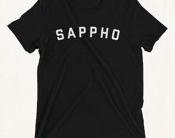 SAPPHO Shirt, Sappho, Sappho Print, Sappho Pin, Poet Shirt, Poetry Shirt, Famous Women, Feminist, lgbt, Feminism, lgbtq, lgbt Shirt