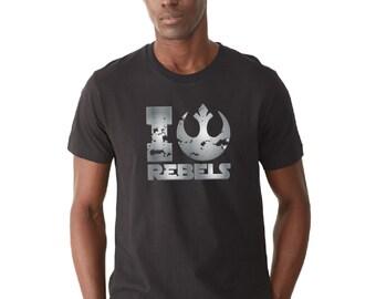 "Star Wars Fan ""I love rebels"" - Rebels Shirt - Rebels - Rebellion - Phoenix Squadron"