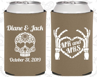 Mr and Mrs, Sugar Skull Wedding, Day of the Dead Wedding, Candy Skull Wedding Favors, Dia De Los Muertos Wedding Favors (205)