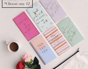 Bundle Deal - 12 notebooks - Midori Insert / Paper Refill for Traveler's Notebook - Save 35%!