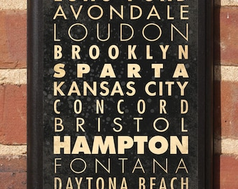 NASCAR Racing Cities Track List Wall Art Plaque Sign Race Car Speedway Home Decor Vintage Gift Present Daytona Bristol Darlington Classic