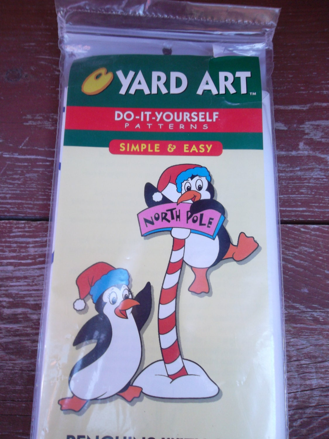 Yard art do it yourself patterns penguins with sign outdoor yard 695 solutioingenieria Choice Image