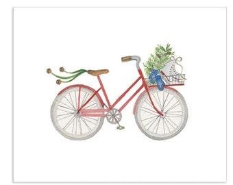 Bicycle Series - Winter Bicycle Art Print