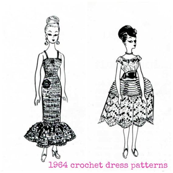 1964 Crochet & Knit Barbie Dress Patterns Fabulous Doll