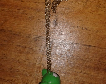 Green Baby Bambi Necklace
